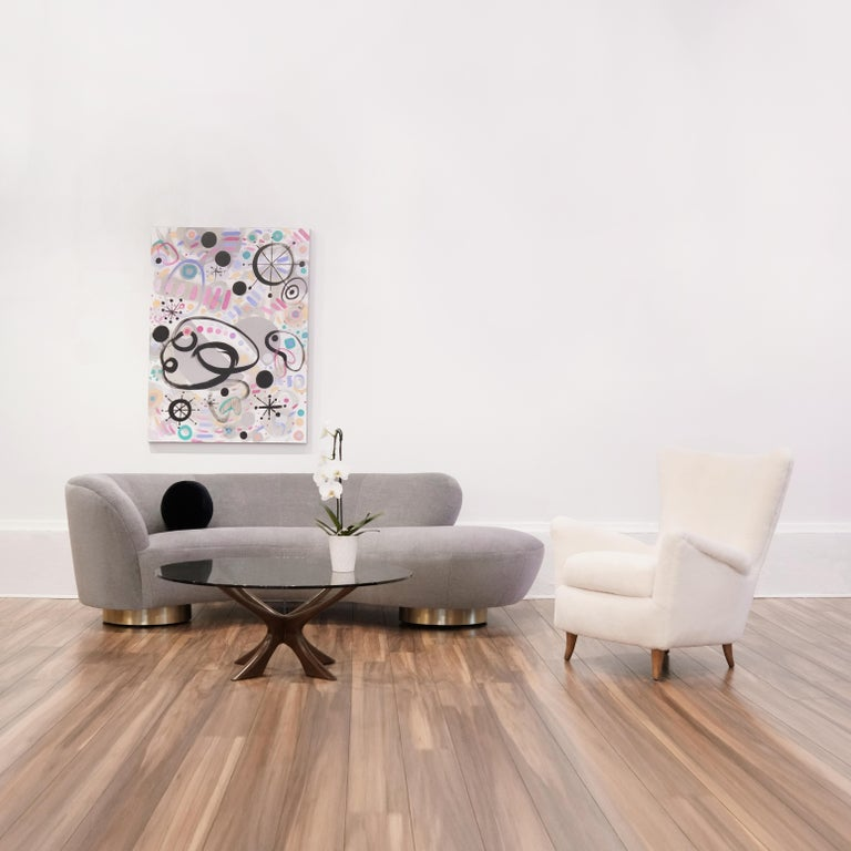 Serpentine Sofa by Vladimir Kagan in Grey Royal Alpaca 7