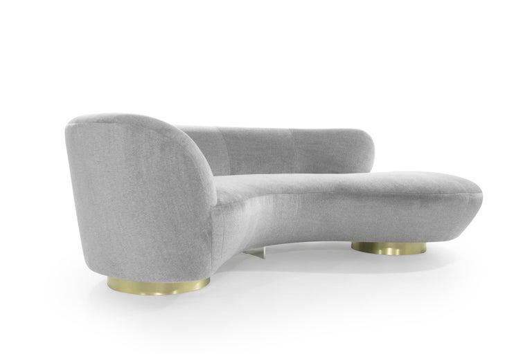 American Serpentine Sofa by Vladimir Kagan in Grey Royal Alpaca