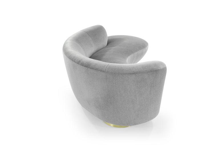 20th Century Serpentine Sofa by Vladimir Kagan in Grey Royal Alpaca