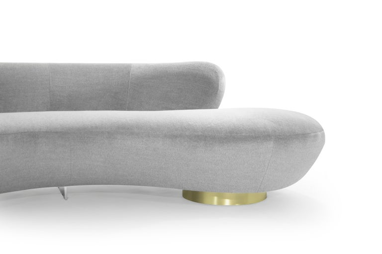Serpentine Sofa by Vladimir Kagan in Grey Royal Alpaca 2