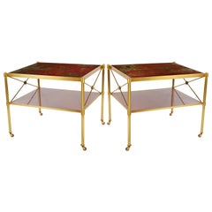 Sert Side Tables in Red by David Duncan