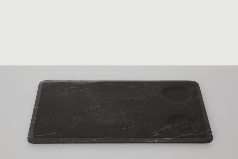 Serving Platter with Bowls in Marble by Ivan Colominas, Italy, In Stock In New Condition For Sale In Milan, IT