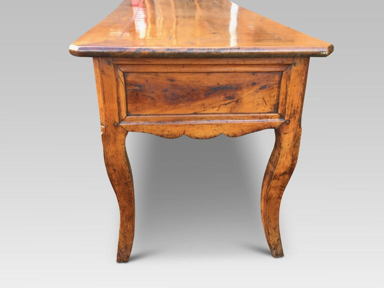 Country  Dresser Base. Serving Table, Cherrywood, French, circa 1800 For Sale