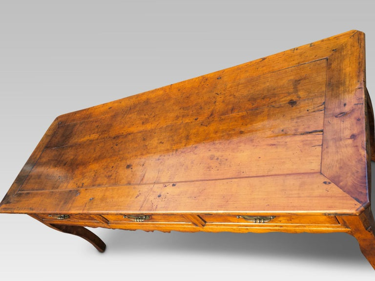 Hand-Carved  Dresser Base. Serving Table, Cherrywood, French, circa 1800 For Sale