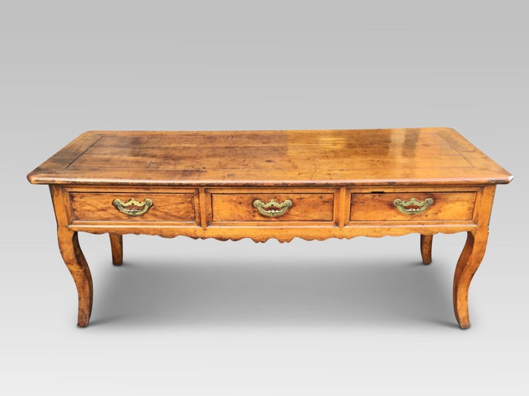 Dresser Base. Serving Table, Cherrywood, French, circa 1800 In Good Condition For Sale In Honiton, Devon
