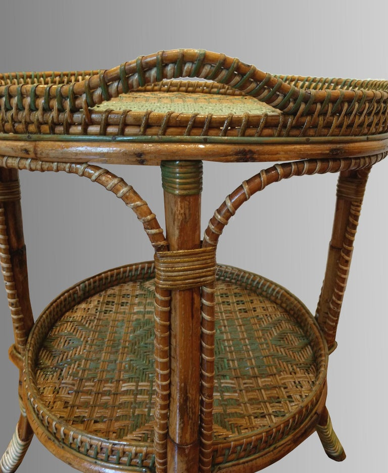 Serving Table in Woven and Lacquered Rattan, France, circa ...