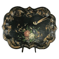 Serving Tray, 19th Century English in Papier Mâché