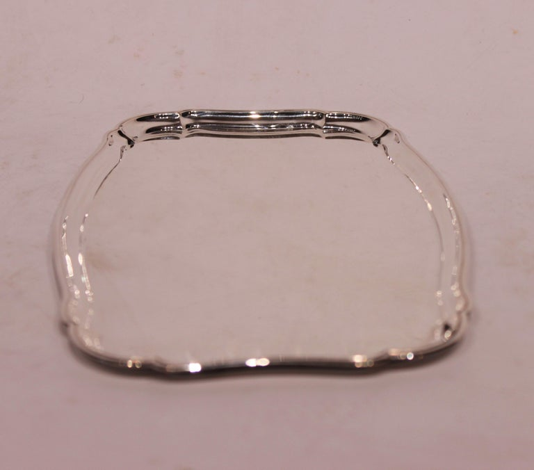 Danish Serving Tray in 830 Silver by Svend Toxværd For Sale