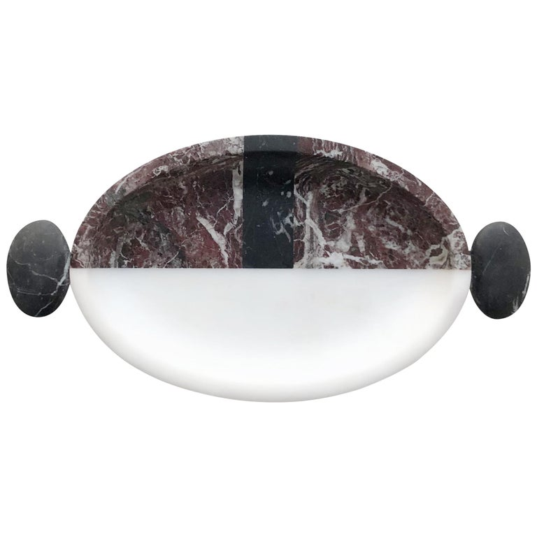 Serving Tray in Marble by Matteo Cibic, Made in Italy For Sale