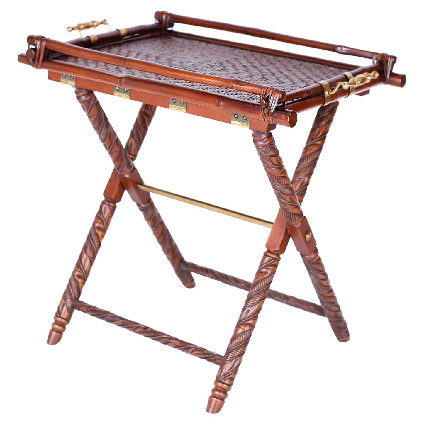 Serving Tray on a Folding Stand