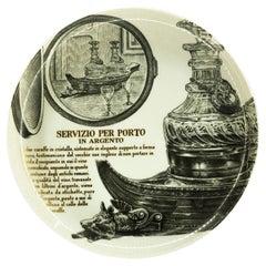 Servizio Per Porto Plate for Martini & Rossi, by P. Fornasetti, 1960s