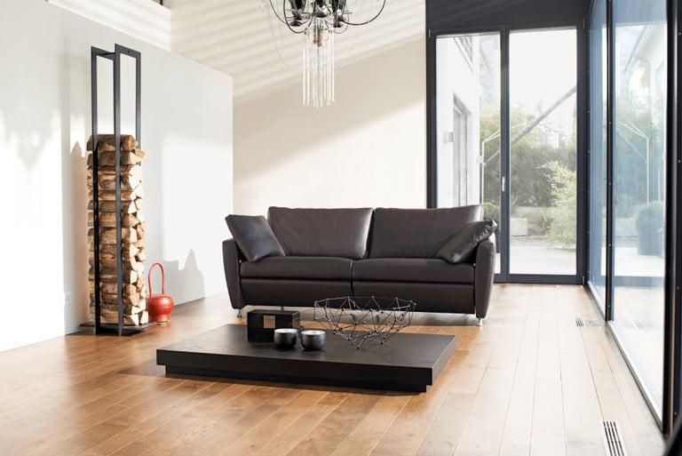 Modern Sesam Adjustable Reclining Leather Sofa by FSM For Sale