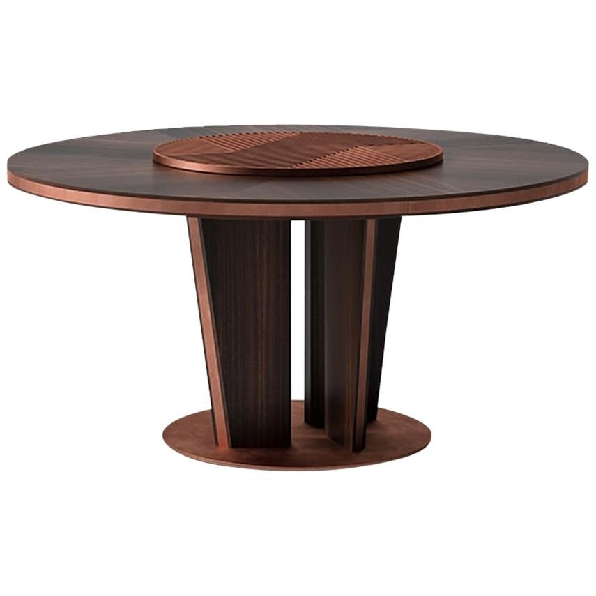 Sesto Senso Round Dining Table with Lazy Susan