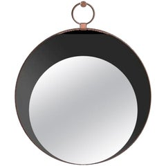 Sesto Senso Round Mirror with Metal Frame