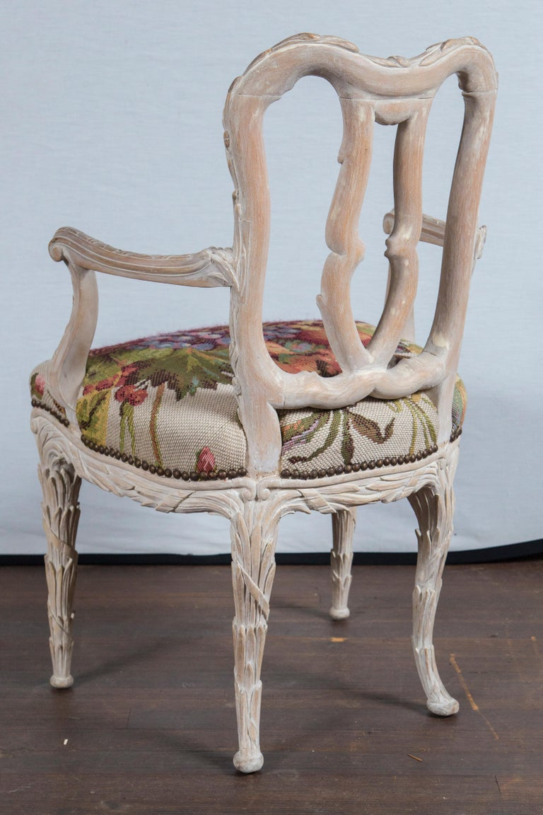 Mid-20th Century Set of 10 Carved Wood Dining Chairs, Serge Roche Style For Sale