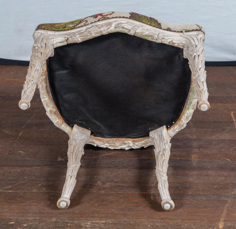 Set of 10 Carved Wood Dining Chairs, Serge Roche Style For Sale 3