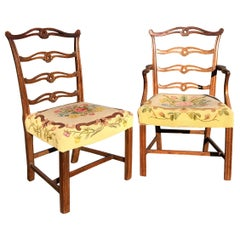 Set 10 Chippendale Mahogany Dining Chairs, circa 1770
