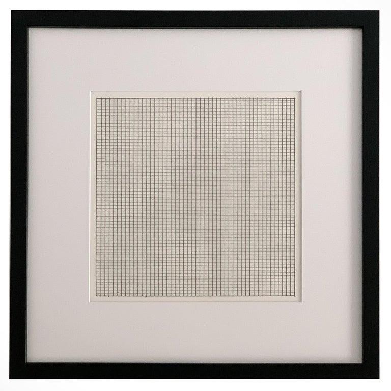 Set 10 Framed Lithographs by Agnes Martin For Sale 3