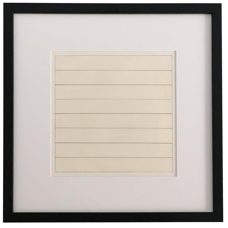 Set 10 Framed Lithographs by Agnes Martin For Sale 4