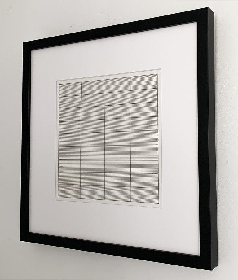 Set 10 Framed Lithographs by Agnes Martin For Sale 5