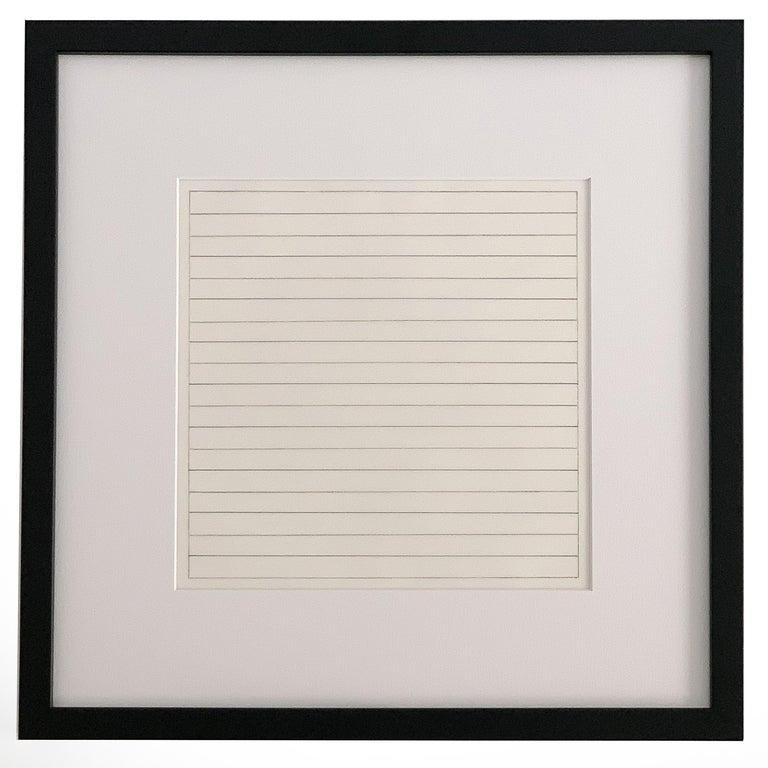 Set 10 Framed Lithographs by Agnes Martin For Sale 1