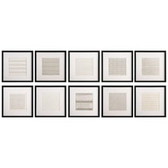 Set 10 Framed Lithographs by Agnes Martin