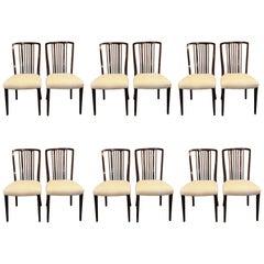 Set 12 Georg Kofoed Danish Brazilian Rosewood Scandinavian Modern Dining Chairs