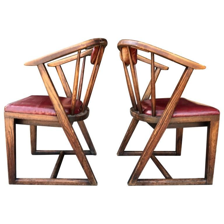 "Set of 12 ""Horseshoe"" Back Armchairs, Jamestown Lounge Co. by Jack Van der Molen For Sale"