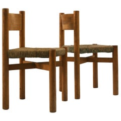"Set of 2 Chairs Charlotte Perriand Mod. ""Méribel"""