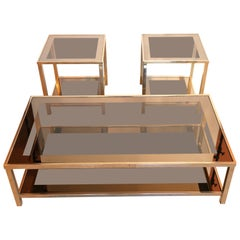Set of 2 Side or End Table plus Coffee Table 23 Carat Gold 'More Available'