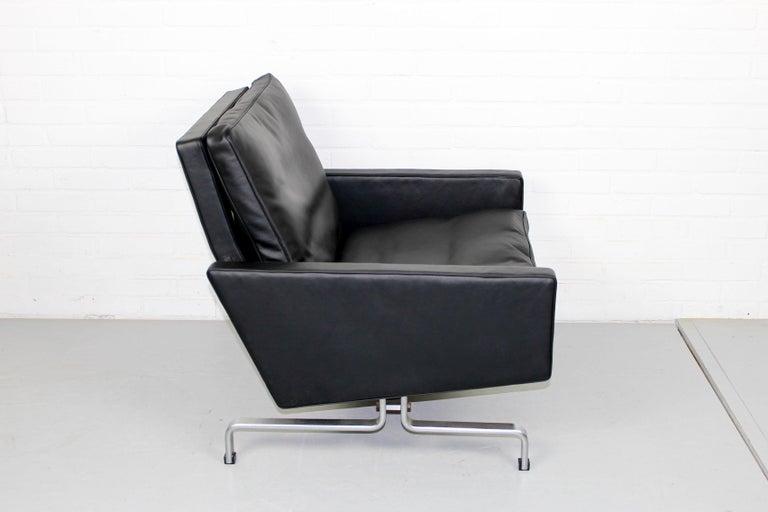 Set 2 Vintage PK31/1 Lounge Chair & PK61 Coffee Table by Poul Kjaerholm for E. K For Sale 3