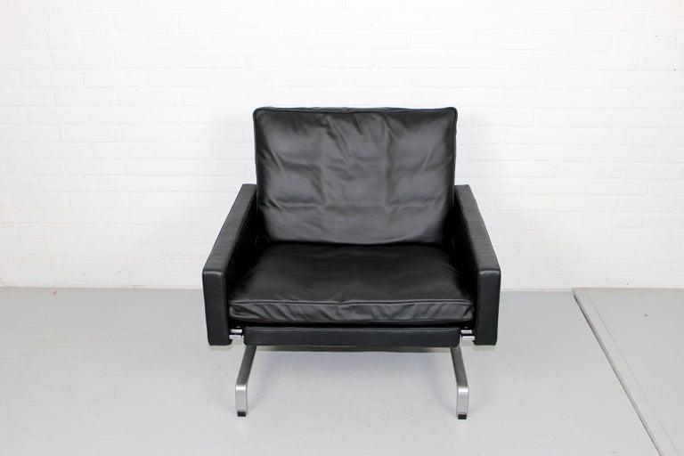Set 2 Vintage PK31/1 Lounge Chair & PK61 Coffee Table by Poul Kjaerholm for E. K For Sale 4