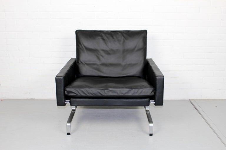 Set 2 Vintage PK31/1 Lounge Chair & PK61 Coffee Table by Poul Kjaerholm for E. K For Sale 5