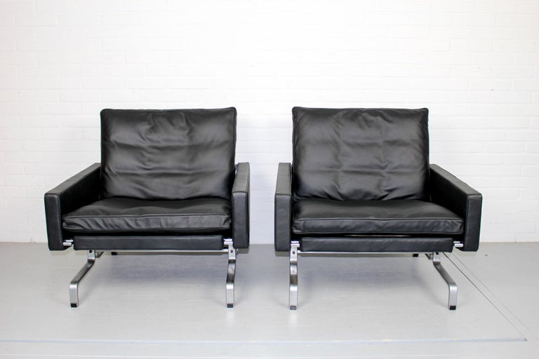 Set 2 Vintage PK31/1 Lounge Chair & PK61 Coffee Table by Poul Kjaerholm for E. K For Sale 7