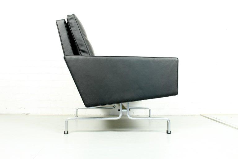 Mid-Century Modern Set 2 Vintage PK31/1 Lounge Chair & PK61 Coffee Table by Poul Kjaerholm for E. K For Sale