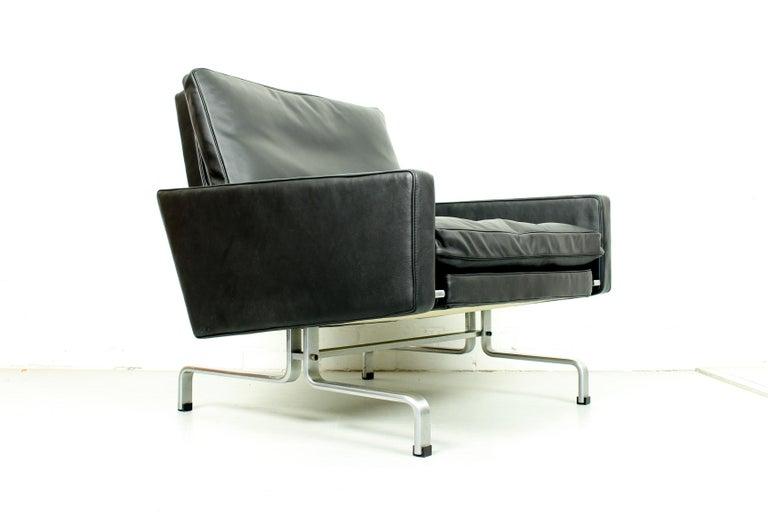 Danish Set 2 Vintage PK31/1 Lounge Chair & PK61 Coffee Table by Poul Kjaerholm for E. K For Sale