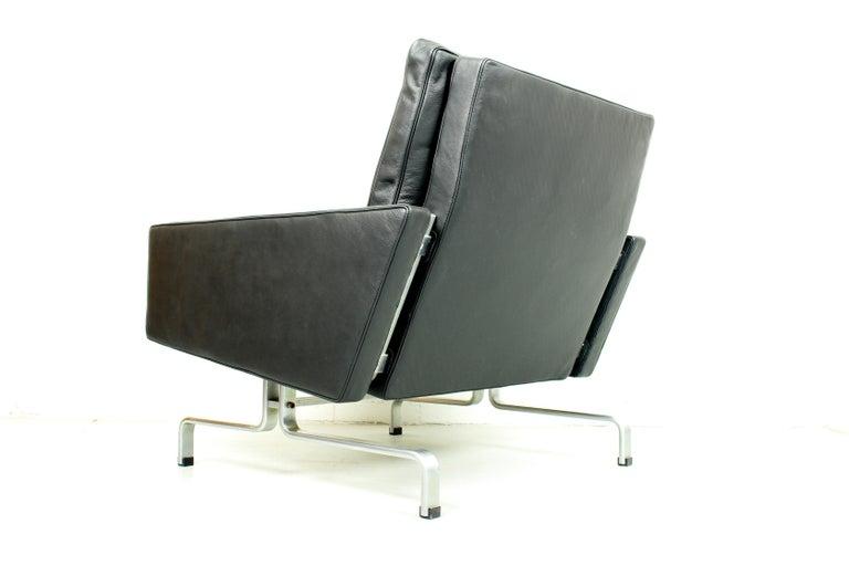 Steel Set 2 Vintage PK31/1 Lounge Chair & PK61 Coffee Table by Poul Kjaerholm for E. K For Sale