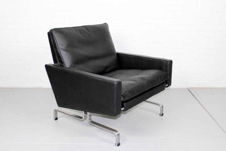 Set 2 Vintage PK31/1 Lounge Chair & PK61 Coffee Table by Poul Kjaerholm for E. K For Sale 2