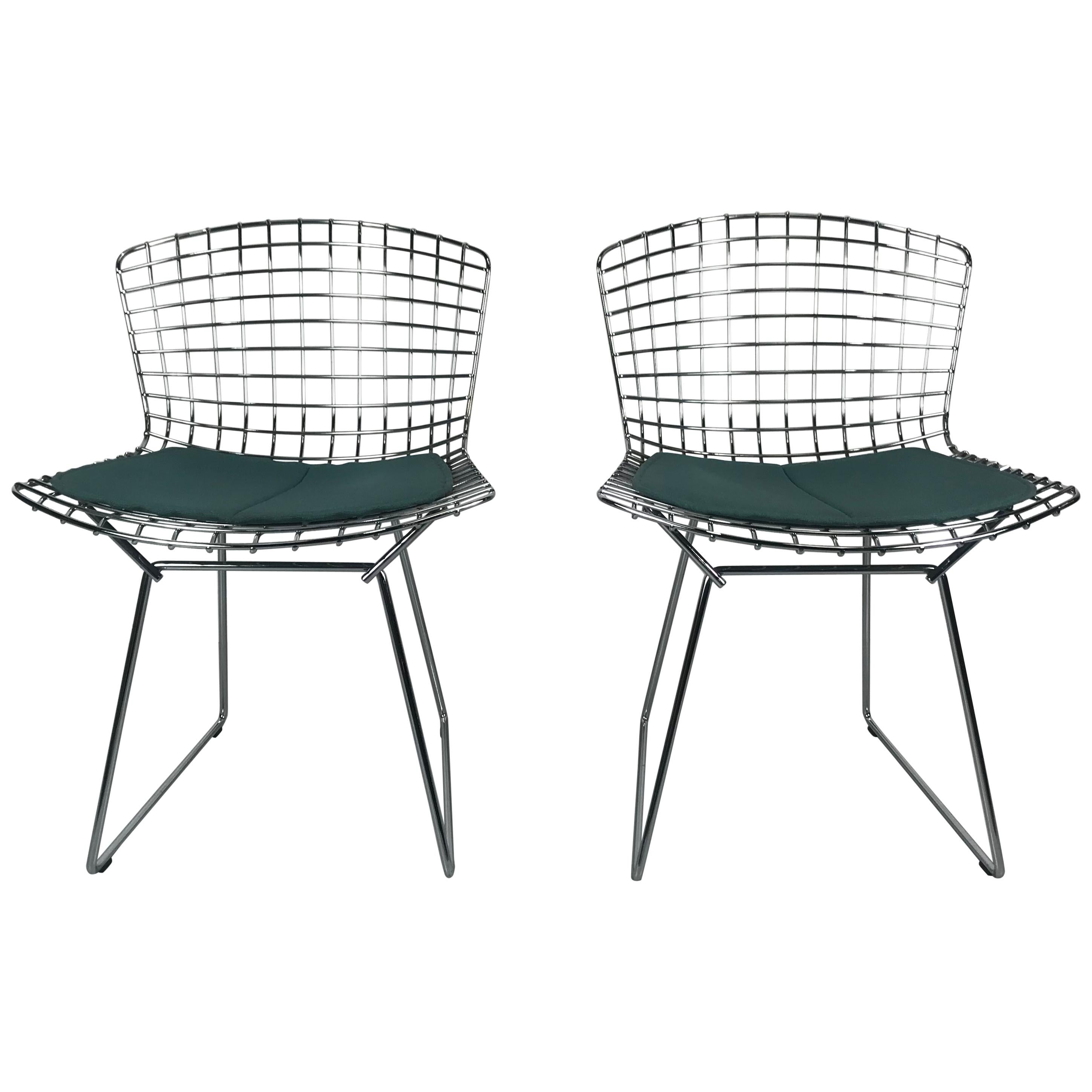 Set of 20 Vintage Chrome Bertoia Side Chairs by Knoll