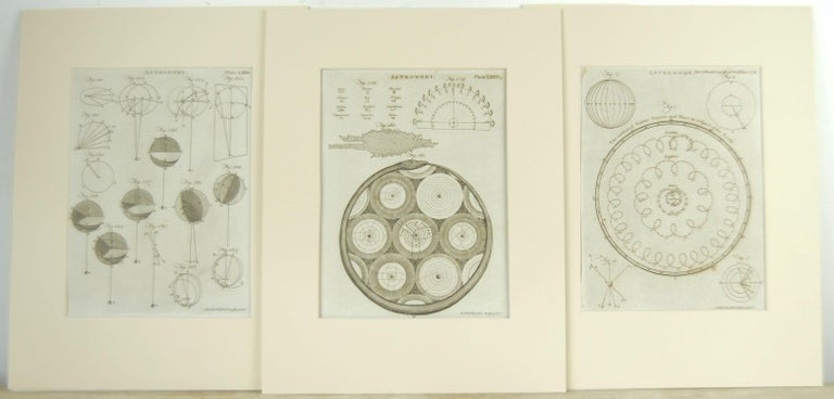 Paper Set 24 18th Century Astronomy Prints by A.Bell For Sale