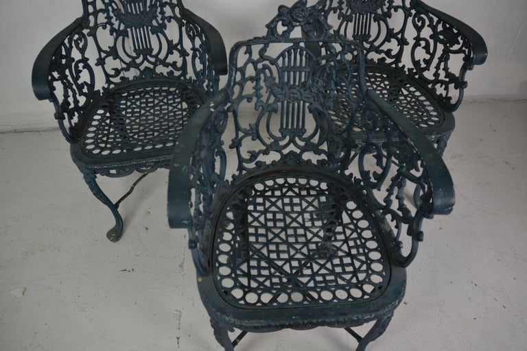 Set of 3 1950s Garden / Patio Chairs In Good Condition For Sale In Pasadena, CA