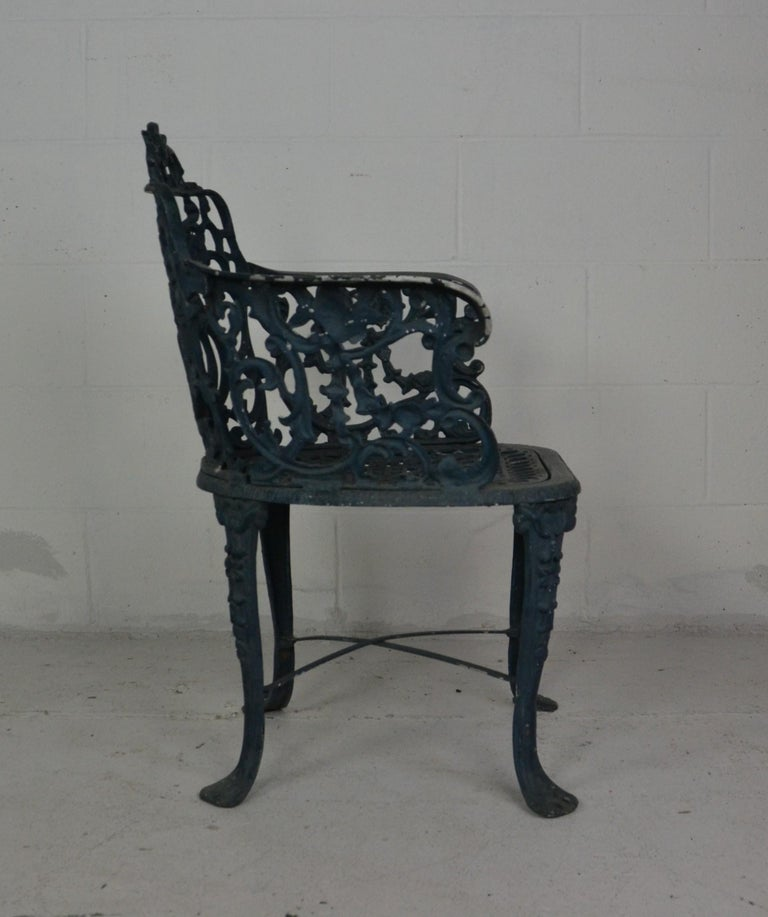 Mid-20th Century Set of 3 1950s Garden / Patio Chairs For Sale