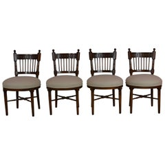 Set 4 Continental European Dining Chairs