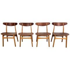 Vierer Set Esszimmerstühle CH-30 Entworfen von Hans Wegner für Carl Hansen & Sons