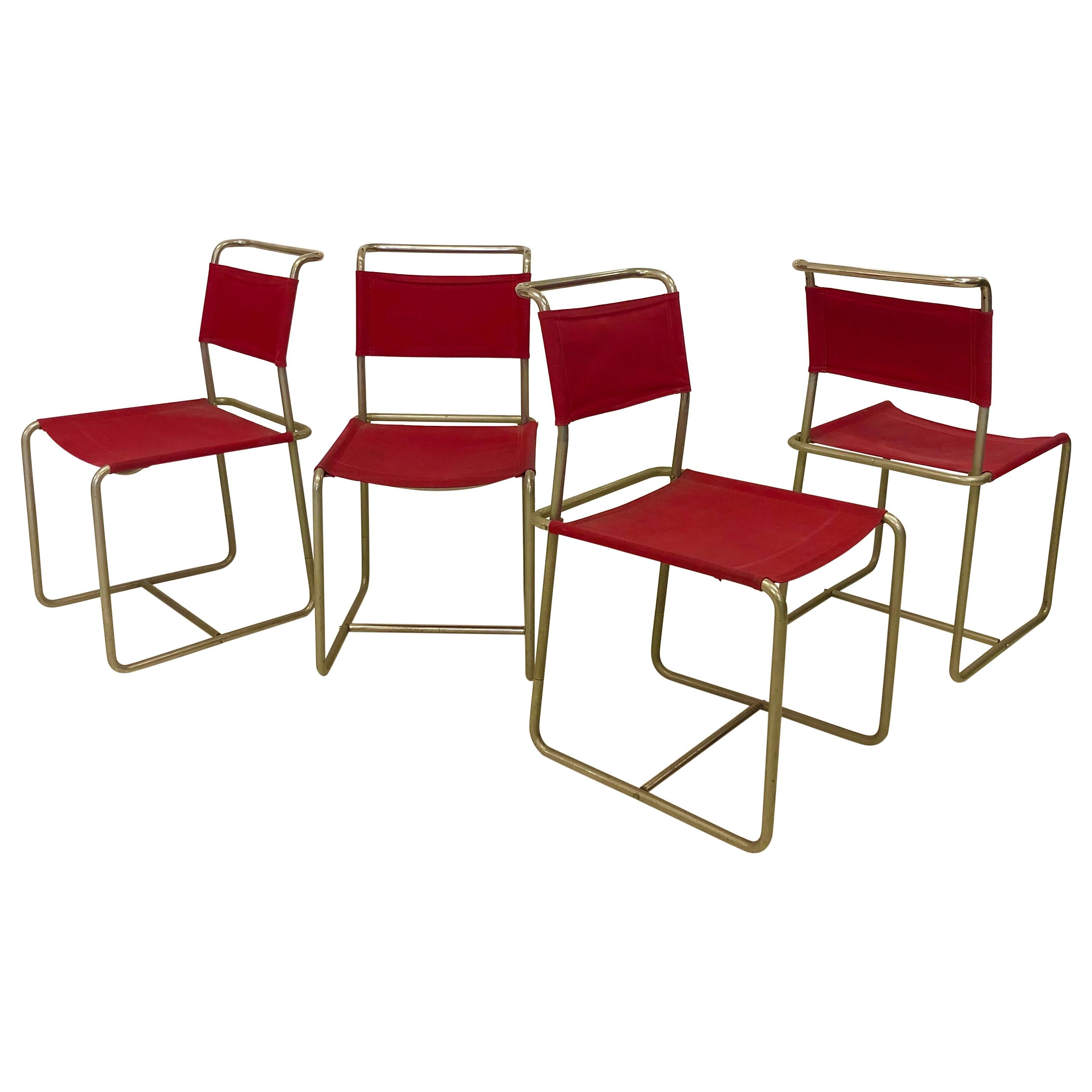 Set 4 Early and Rare Variant Marcel Breuer B5 chair