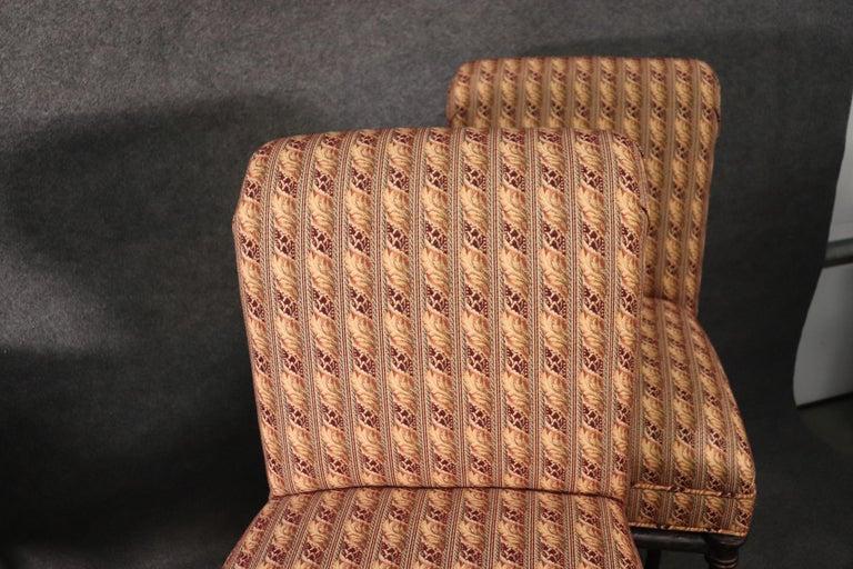 Italian Set 4 Hollywood Regency Iron Base Upholstered Bar Stools For Sale