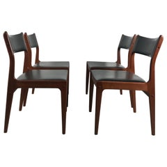 Set of 4 Johannes Andersen Uldum Møbelfabrik Danish Rosewood Dining Chair