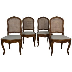 Set 4 Louis XV Dining Chairs