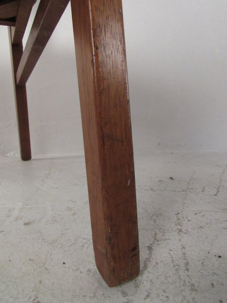 Set of 4 Midcentury Dining Chairs by B.L. Marble Furniture Co. For Sale 4