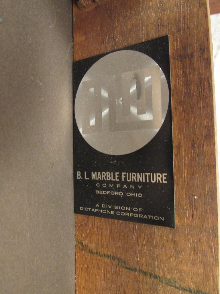 Set of 4 Midcentury Dining Chairs by B.L. Marble Furniture Co. In Good Condition For Sale In Brooklyn, NY